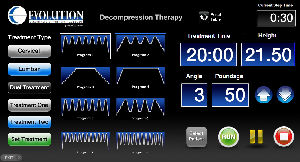 spinal decompressiontherapy toronto EvolutionDT_Screen1